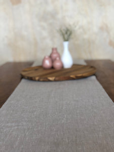 Table Runner Pure Linen Oatmeal Colour