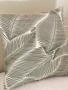 Abstract Leaves Cushion Cover