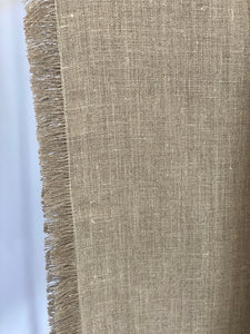 European Linen Table Runner Flax fringed was $49 now $39