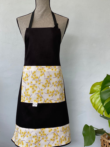 Wattle on Black Apron