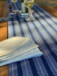 Navy Ripple Table Runner