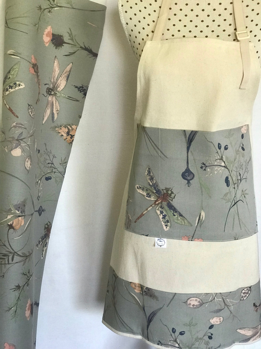 Grey Dragonfly Apron