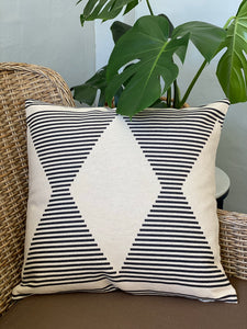 Geometric Hourglass Cushion Cover