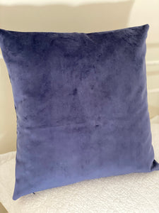 Navy Blue Velvet Cushion Cover
