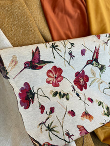Hummingbird Tapestry Cushion Cover