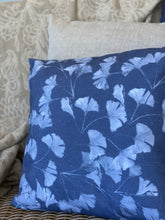 Gingko Blue Linen Blend Cushion