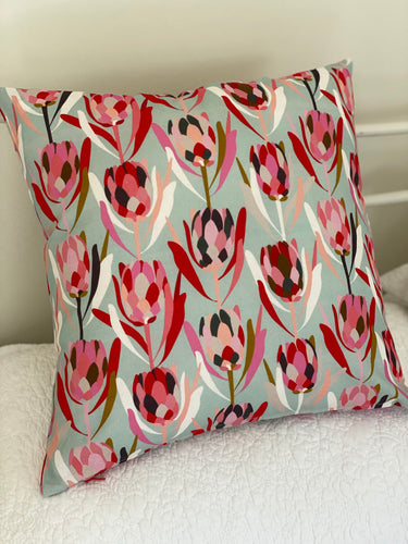 Proteas Linen Blend Mint Cushion Cover