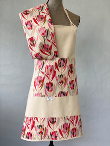 Protea on a Natural Apron