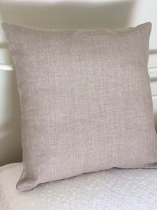 Pure Linen Flax colour Cushion Cover