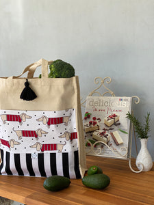 Dashing Dachshund Shopping Bag