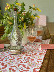 Blushed Peach Mosaic Table Runner