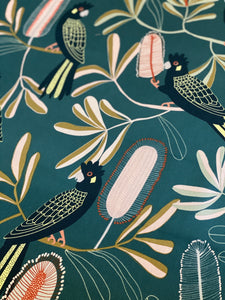 Black Cockatoo & Banksia Tea Towel