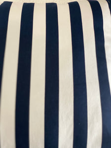 Dark Blue & White Stripe Drill Cushion Cover