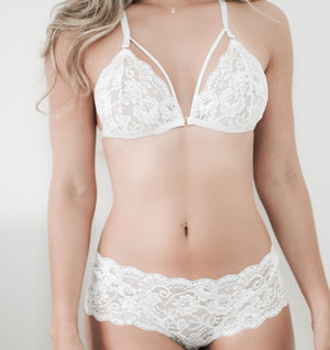 SET DARE BLANCO BRALETTE + SEMICACHETERO