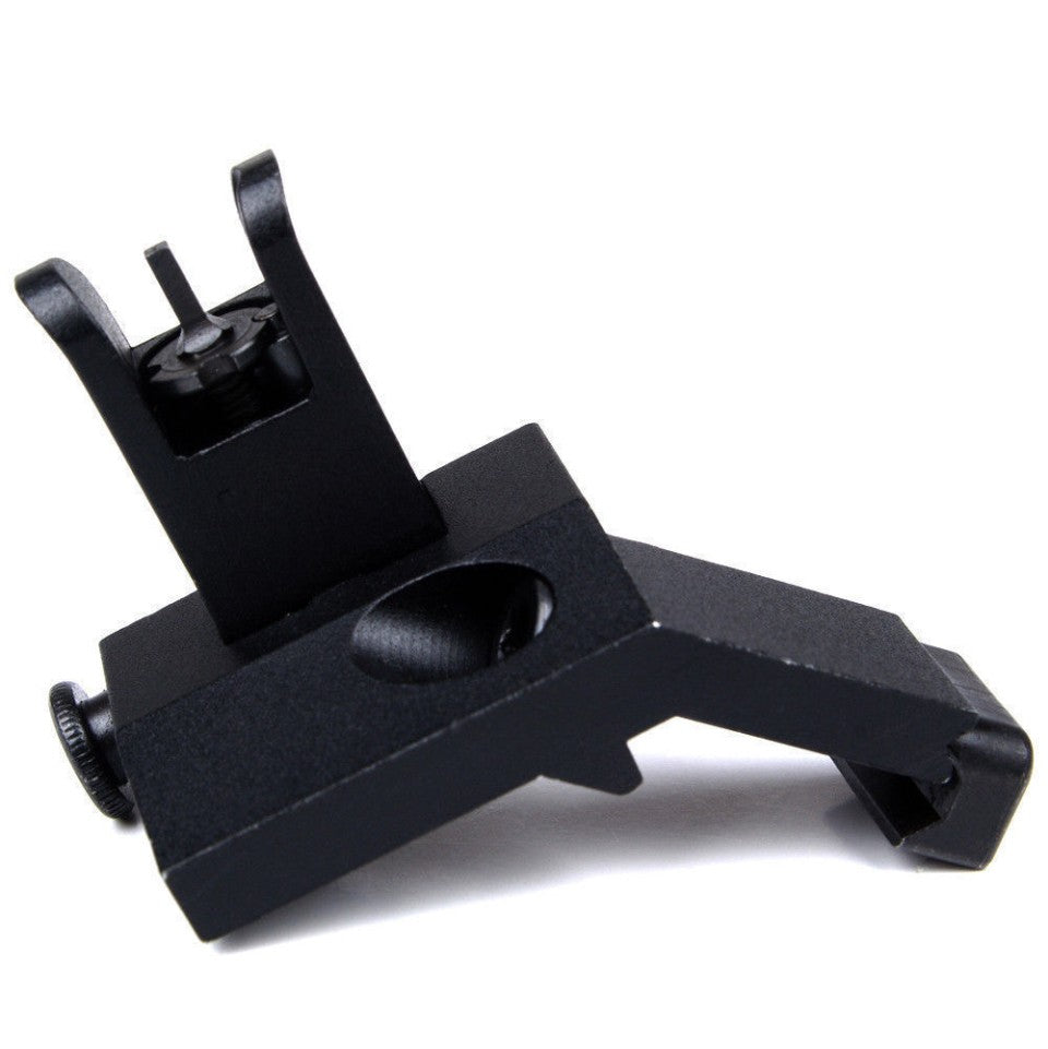 US Front and Rear Flip Up 45 Degree Offset Rapid Transition Backup Iron Sight