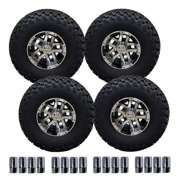 10' Blittz Machined Wheel on 22' Off-Road Pro-Fit tyre Set