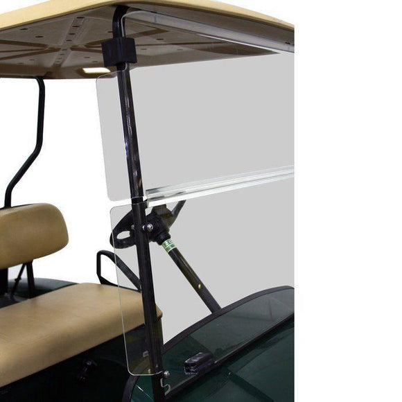 Folding Winged Windshield for EZGO TXT - Tinted