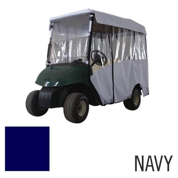 Deluxe 4 Pass Enclosure for EZGO RXV-Navy