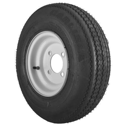 4.80x8 6 Ply Sure Trail with White Steel Wheel Assembly
