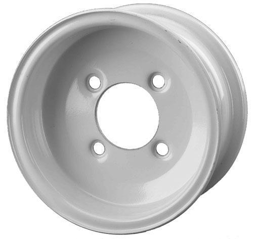 8x3.75 4 on 4 Bolt Pattern with White Steel Wheel Assembly