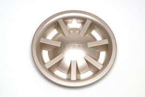 8 Inch Metallic Gold Hubcap Assembly (No Logo)