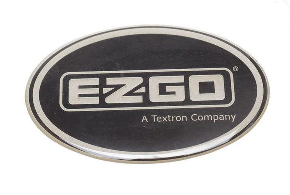 Oval Decal for ST Cowl with Platinum E-Z-GO Logo