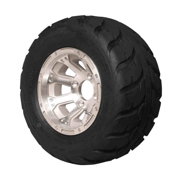 18x10.00-10 Speed Racer with Machined Diamond Wheel Assembly (Passenger's Side)