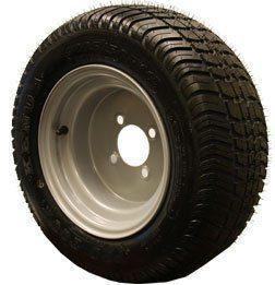 205/50R-10 Radial Pro-Tour with Chrome Silver Painted Steel Wheel Assembly