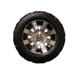 23x10.50-12 VX with Machined with Black Buckshot Wheel Assembly