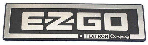 E-Z-GO Name Plate in Chrome