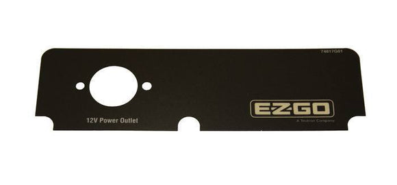 E-Z-GO Console Decal with Outlet