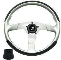 FiberTech Silver Formula GT 3- Spoke Steering Wheel