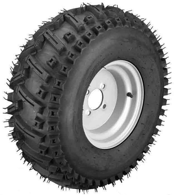 22x11.00-10 Stryker with White Wheel Assembly (Passenger's Side)