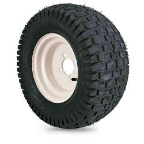 18x8.50-8 4 Ply Turf Saver with White Steel Wheel Assembly