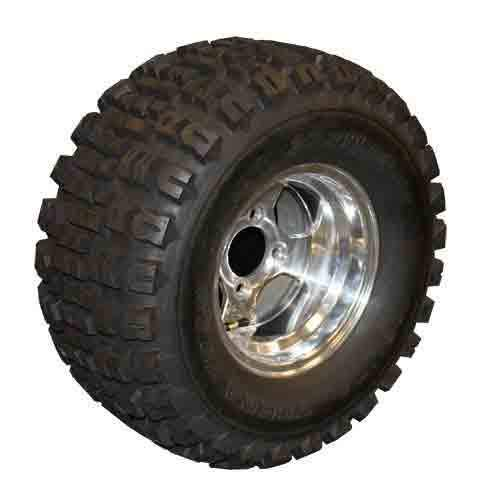 22x11.00-10 Terra Trac with Polished 4 Spoke Wheel Assembly