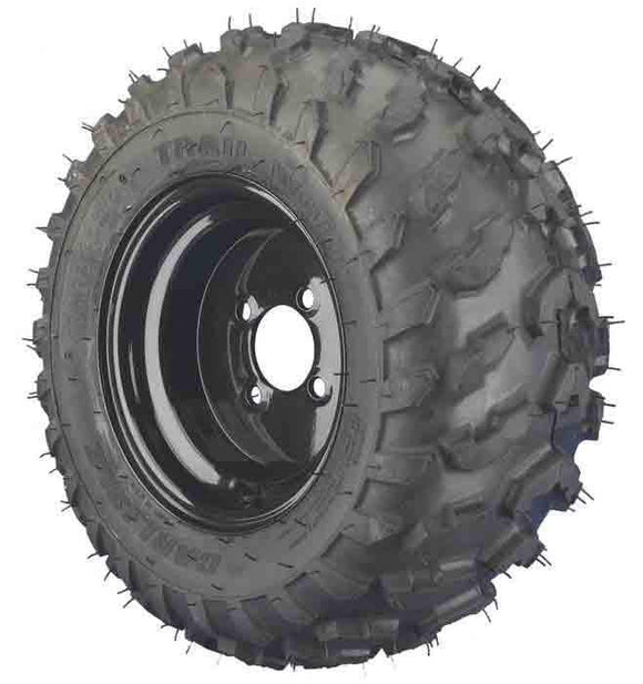 20x11.00-10 4 Ply Trailwolf with Black Steel Wheel Assembly (Driver's Side)