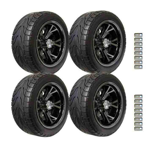 215/40-12 Backlash tyre with Black Chrome Optimus Wheel