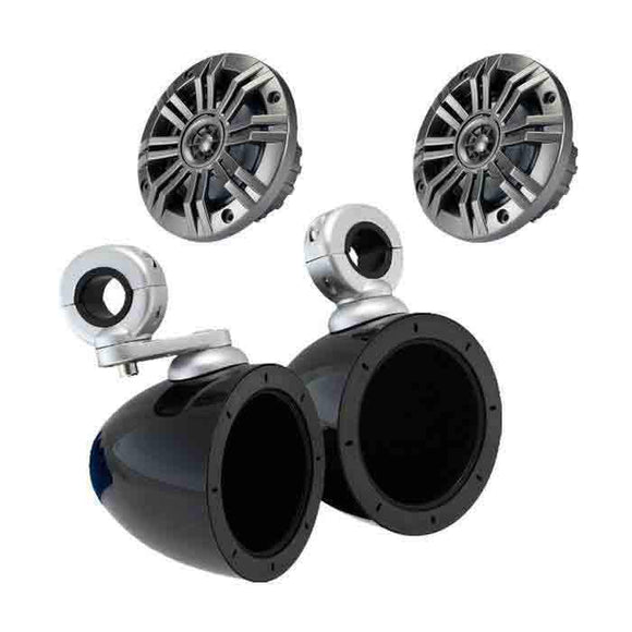 4 Inch Speakers with Bullet Enclosures by Kicker