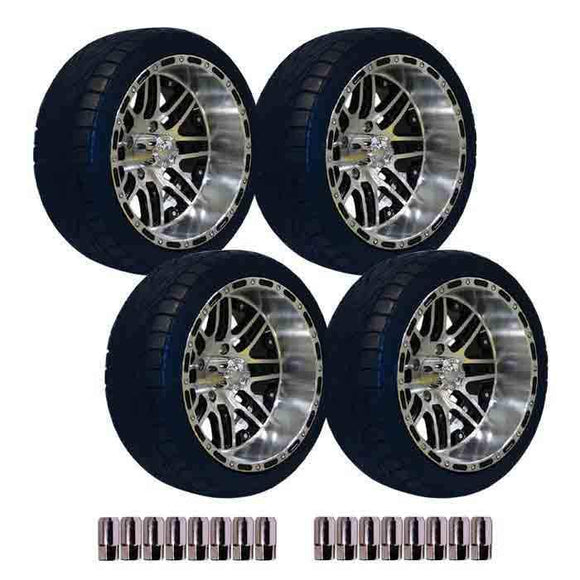 215/35-14 Backlash tyres & Mach Megastar Wheels Package