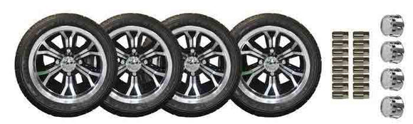 215/40-12 Low Profile Duro Touring tyre and 12 Inch Optimus Machined Wheel Package