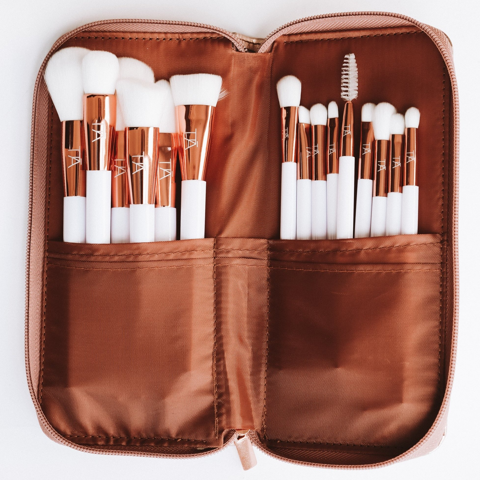 Luxury Rose Gold 15pce Brush Set