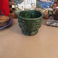Green Glass Planter Pot