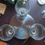 Ceiling Light Fixture ~ 3 Bulb ~ Glass Covers