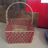 Metal Basket ~ Beaded Wire