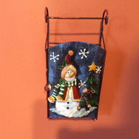 Metal Snowman Sleigh ~ Wall Decor
