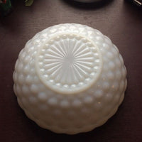 Bowl - Milk Glass - Bubble Style