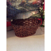 Oval Wooden Weave Basket