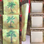 Set of 3 Tropical Tree Canvas Style Wall Hangings ~ Pictures ~ Wall Decor