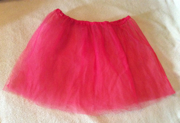 #003 Kids Red Tulle Style Skirt