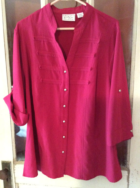 Adult Size: 18/20W / Kathy Che Stretch Shirt